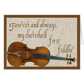 First Fiddle Valentine Card