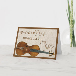 First Fiddle Valentine Holiday Card