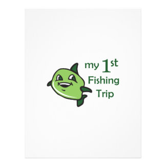 FIRST FISHING TRIP PERSONALIZED LETTERHEAD