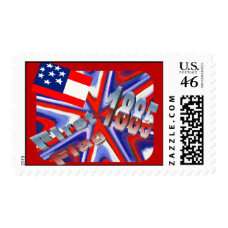 First Flag 1885 ~ American Art Postage Stamps