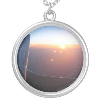 First Flight Round Pendant Necklace