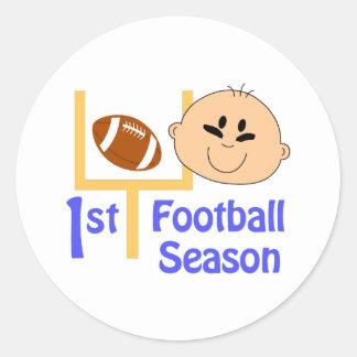 First Football Season Classic Round Sticker