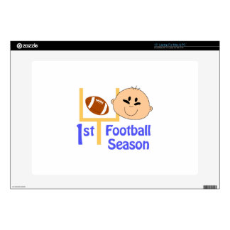 """First Football Season Decals For 15"""" Laptops"""