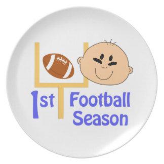 First Football Season Melamine Plate