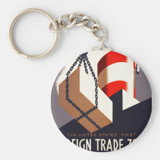 First Foreign Trade Zone Keychain