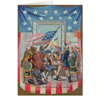 First Fourth of July American Flag Card