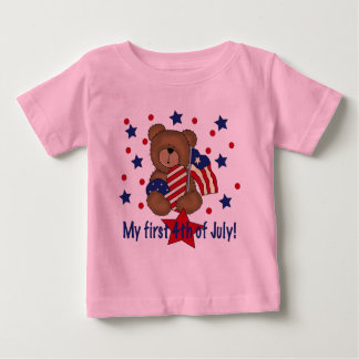 First Fourth of July Patriotic Bear Tee Shirt