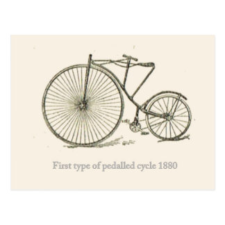 First French pedalled cycle 1880 Postcard