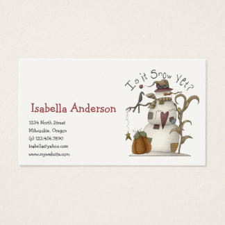 First Frost · Is it Snow Yet? Business Card
