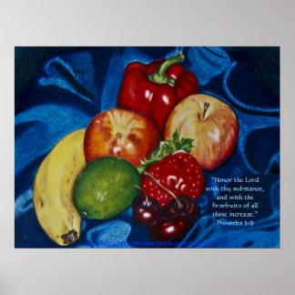 First Fruits Print w/Scripture Verse