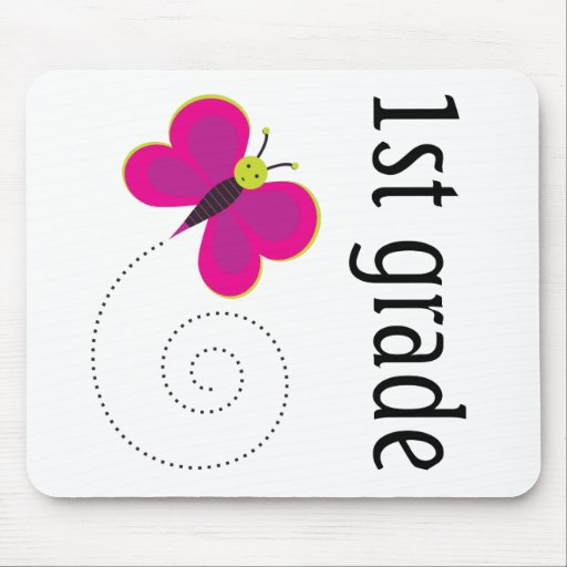 First Grade Butterfly Mouse Pad