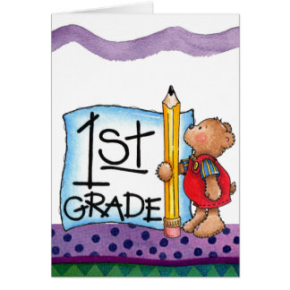 First Grade Card