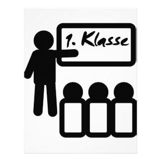 First grade erste klasse letterhead