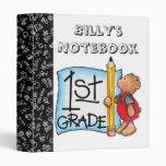 First Grade Notebook Vinyl Binders