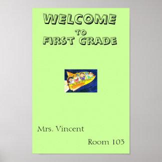First Grade Poster