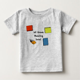 First Grade Reading Level Baby T-Shirt