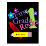 First Grade Rocks For Girls Postcard