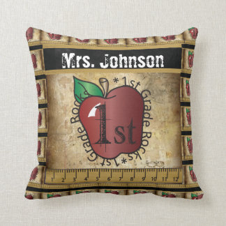 First Grade Rocks | Teacher Throw Pillow