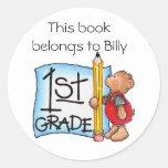 First Grade Round Sticker