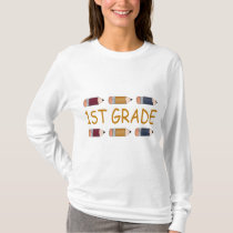 First Grade School Pencil T-Shirt