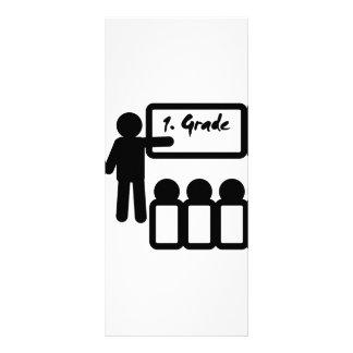 first grade school rack card design