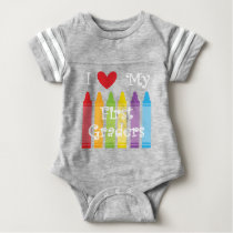 first grade teacher2 baby bodysuit