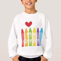 first grade teacher2 sweatshirt