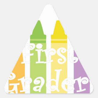 first grade teacher2 triangle sticker