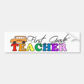 First Grade Teacher Bumper Sticker