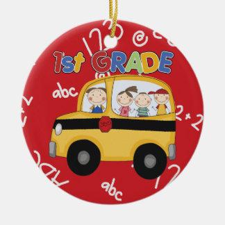 First Grade Teacher Christmas Ornament