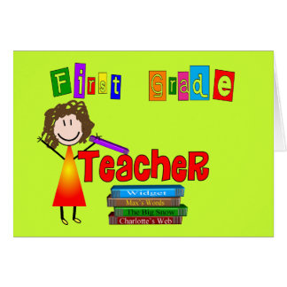 First Grade Teacher Gifts Card