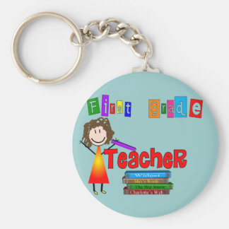 First Grade Teacher Gifts Keychain