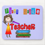 First Grade Teacher Gifts Mouse Pad