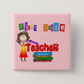 First Grade Teacher Gifts Pinback Button