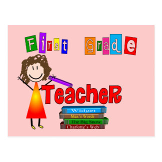 First Grade Teacher Gifts Postcard