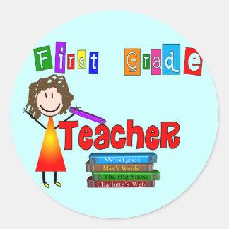 First Grade Teacher Gifts Sticker