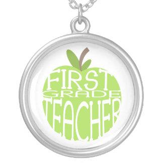 First Grade Teacher Necklace