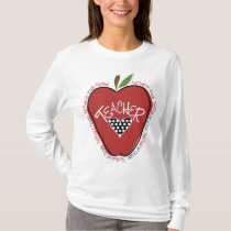 First Grade Teacher Red Apple T-Shirt