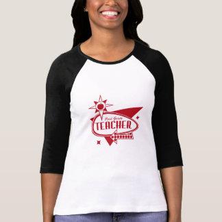 First Grade Teacher Retro Red 60s Inspired Sign T-Shirt