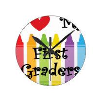 first grade teacher round clock