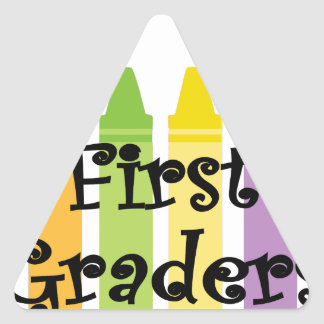 first grade teacher triangle sticker