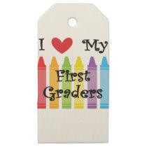first grade teacher wooden gift tags