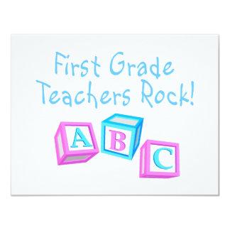 First Grade Teachers Rock Card