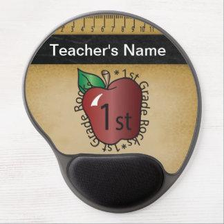 First Grade Teacher's Vintage Chalkboard Style Gel Mouse Pads