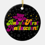 First Halloween - Baby Bat Double-Sided Ceramic Round Christmas Ornament