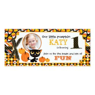 First Halloween Birthday Invitation Card