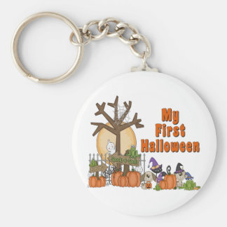 First Halloween Cute & Spooky Basic Round Button Keychain