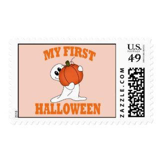 First  Halloween Postage
