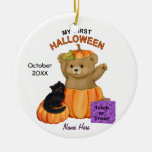 First Halloween Teddy Ceramic Ornament