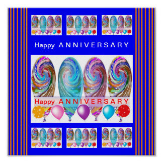FIRST Happy Anniversary :Editable text Let CHANGE Poster